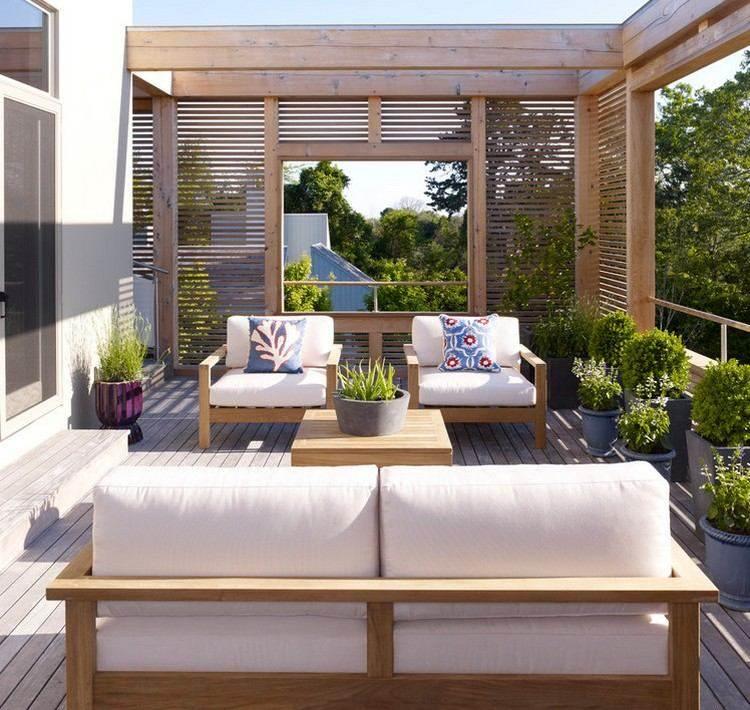 rejas madera natural terraza