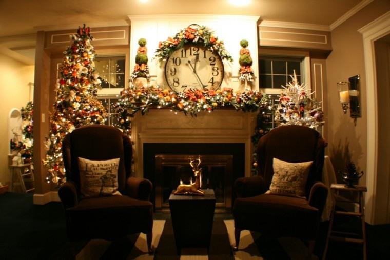 reloj grande decoración navidad