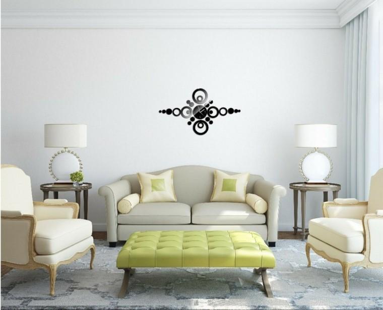 reloj pared negro precioso otomana verde ideas
