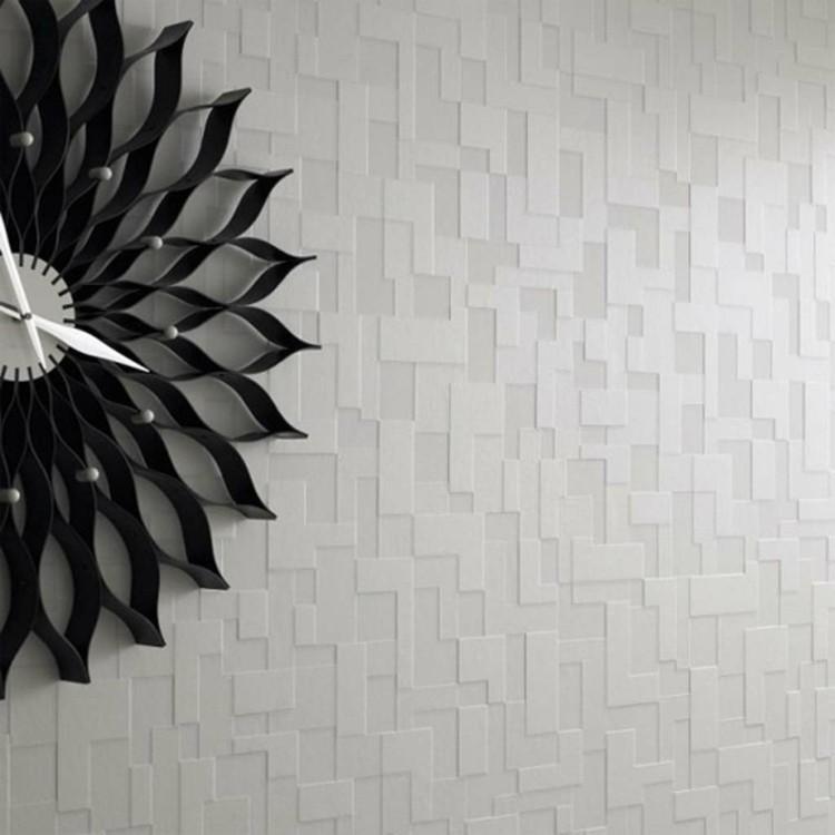 reloj paredes decorado texturas metales