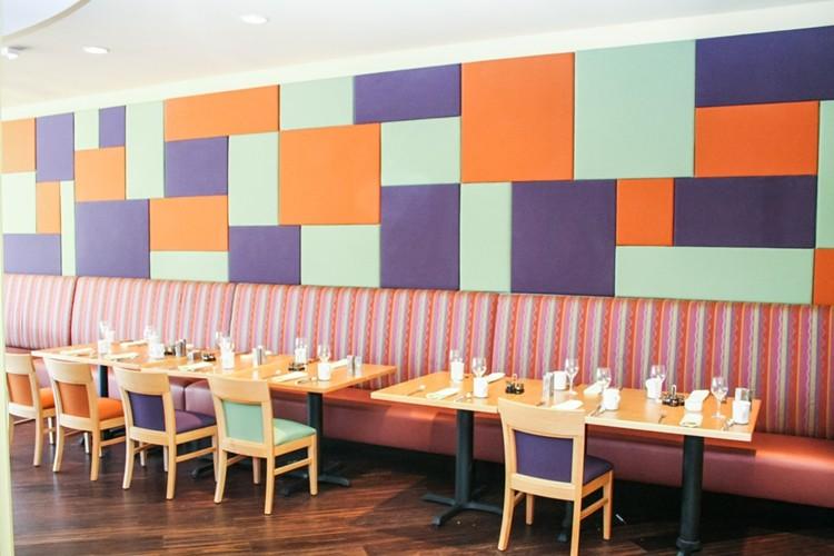 restaurante diseño azules negro moderno maderas