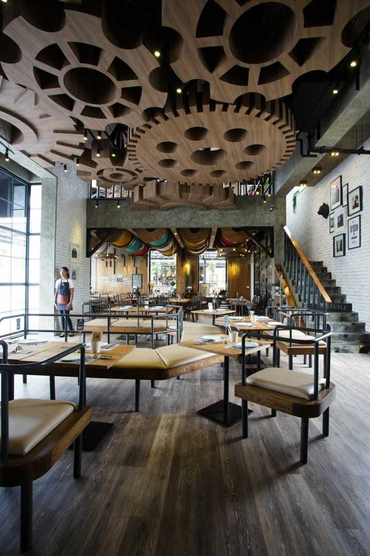 Restaurantes con dise os de techos que roban miradas - Decoracion de restaurantes rusticos ...