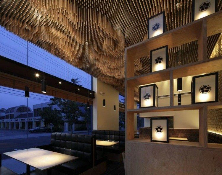 restaurantes techos mesas cueros decorado