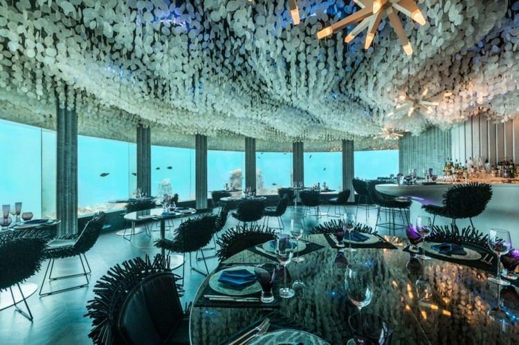 restaurantes techos mesas vidrios moderno