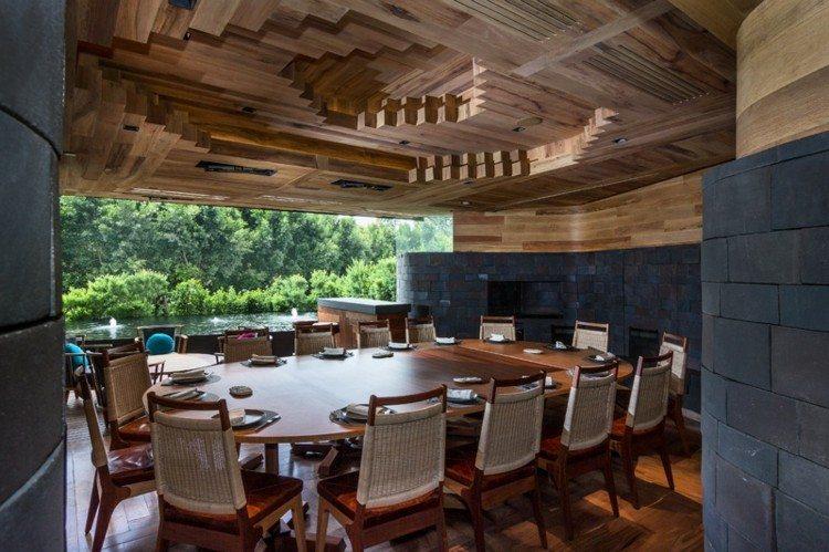 restaurantes techos sillas jardines grises