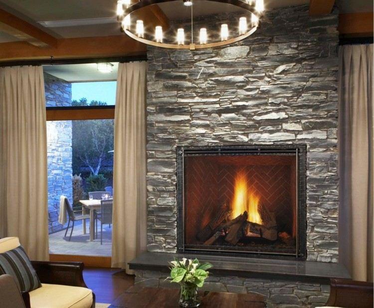rocas paredes ideas casas diseños fuego