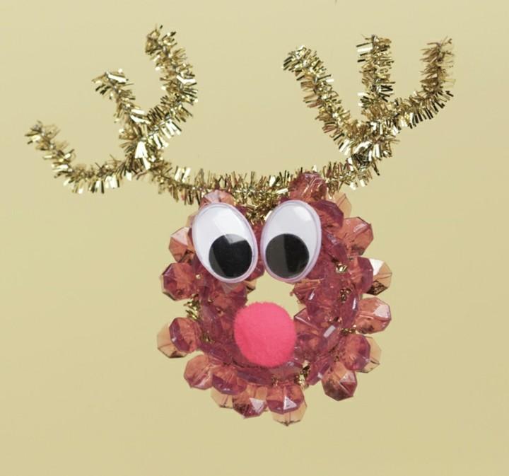 manualidades de navidad para niños rodaja piña cabeza reno