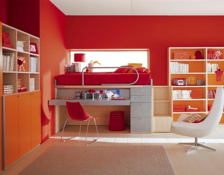 rojo estilos diseños grises maderas naranja