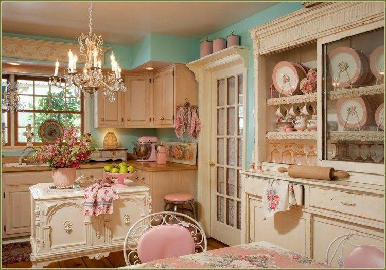 rosa acentos variados cocina lamparas