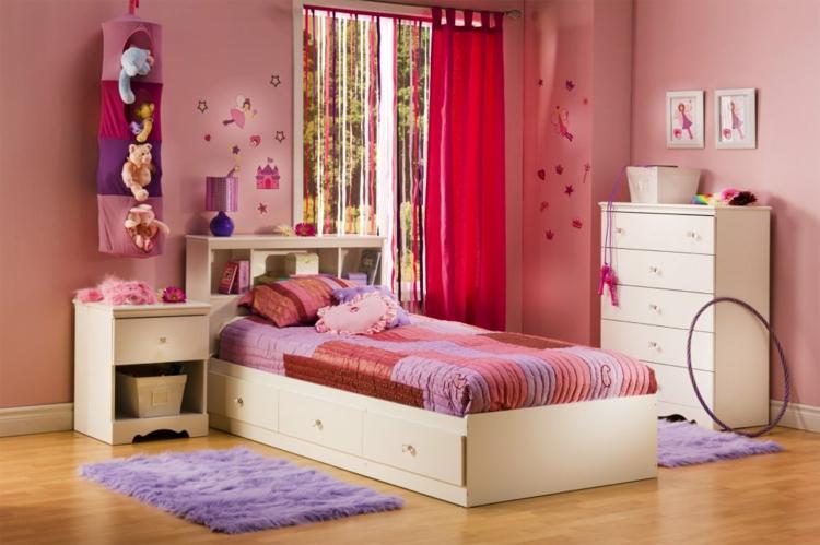 rosa estilos variante lila diseño cortinas