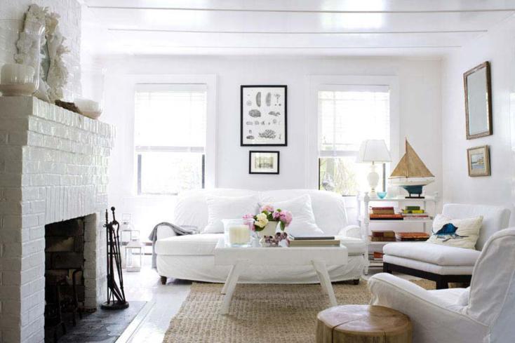 sala de estar chimenea leña
