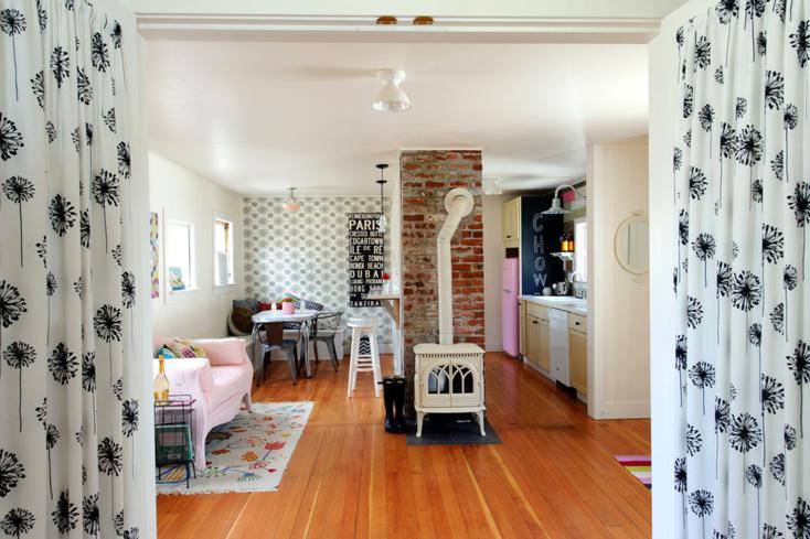 sala de estar estufa retro
