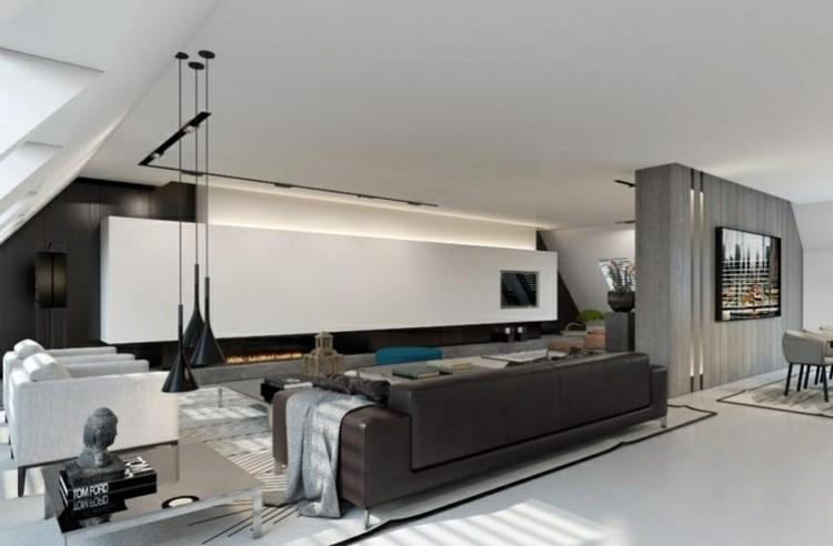 sala de estar moderna iluminación led