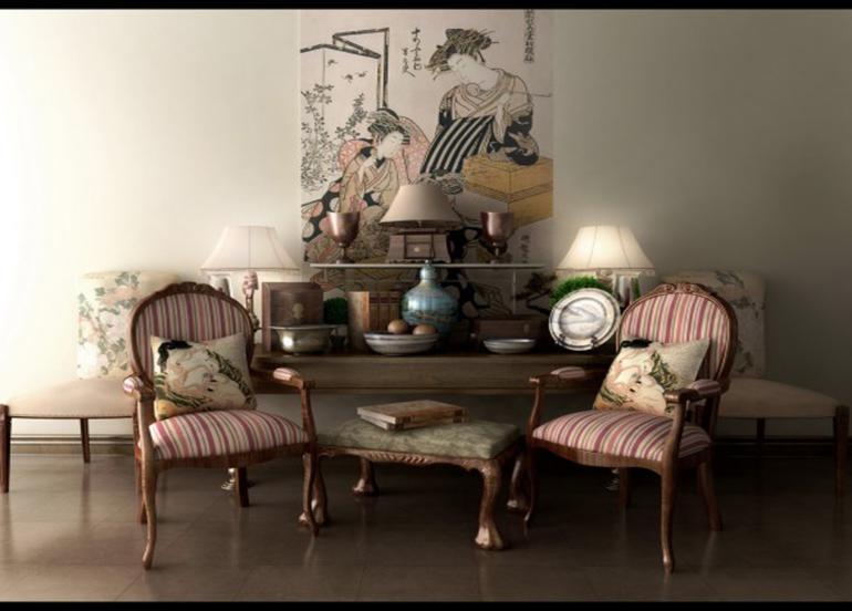 sala estar muebles estilo retro