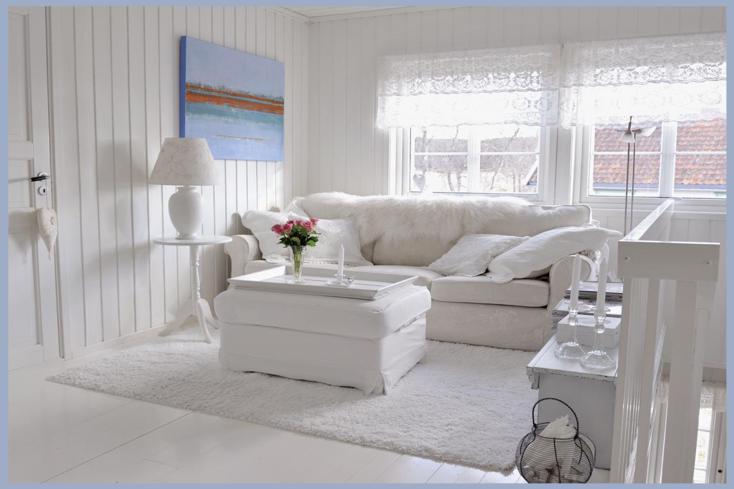 Sala De Estar Estilo Vintage ~ sala de estar pequeña de color blanco