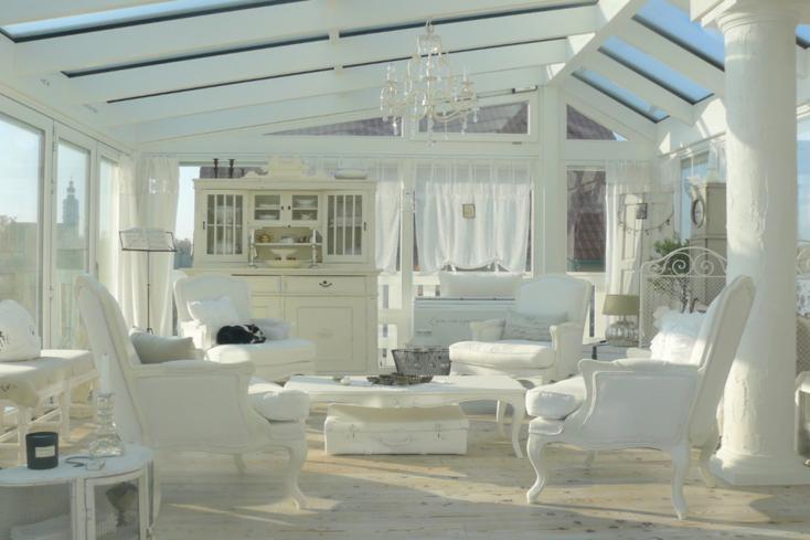 sala de estar terraza blanca