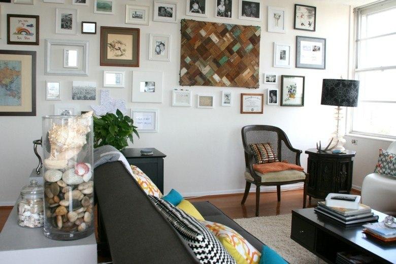 como decorar un salon pequeño original diseño