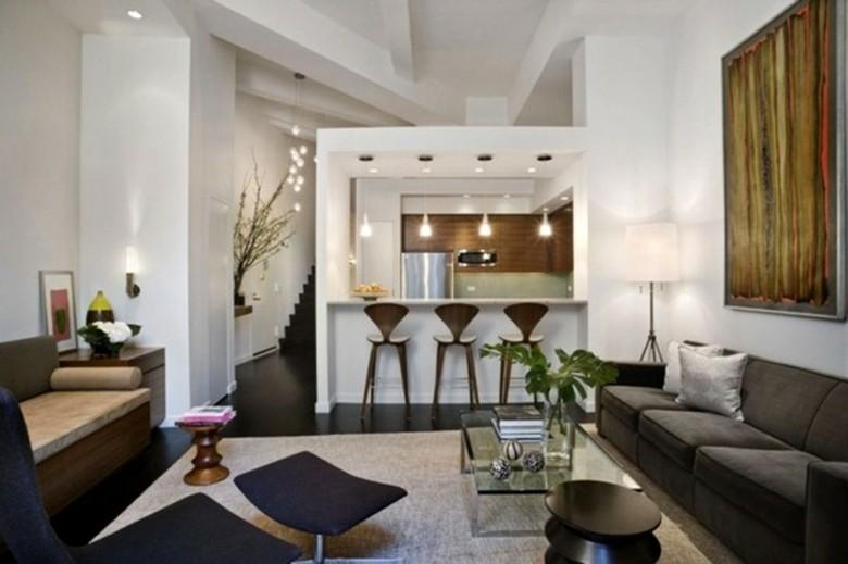 diseño sala estar con comedor cocina