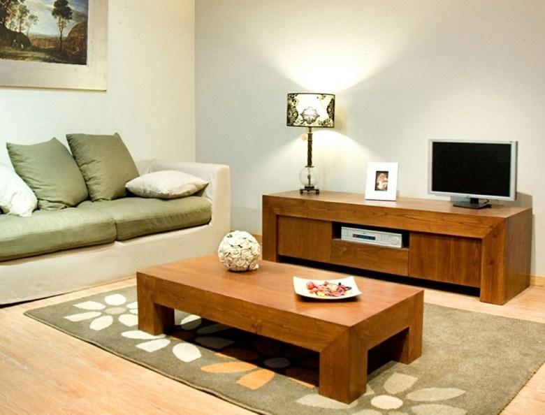 salon moderno muebles madera