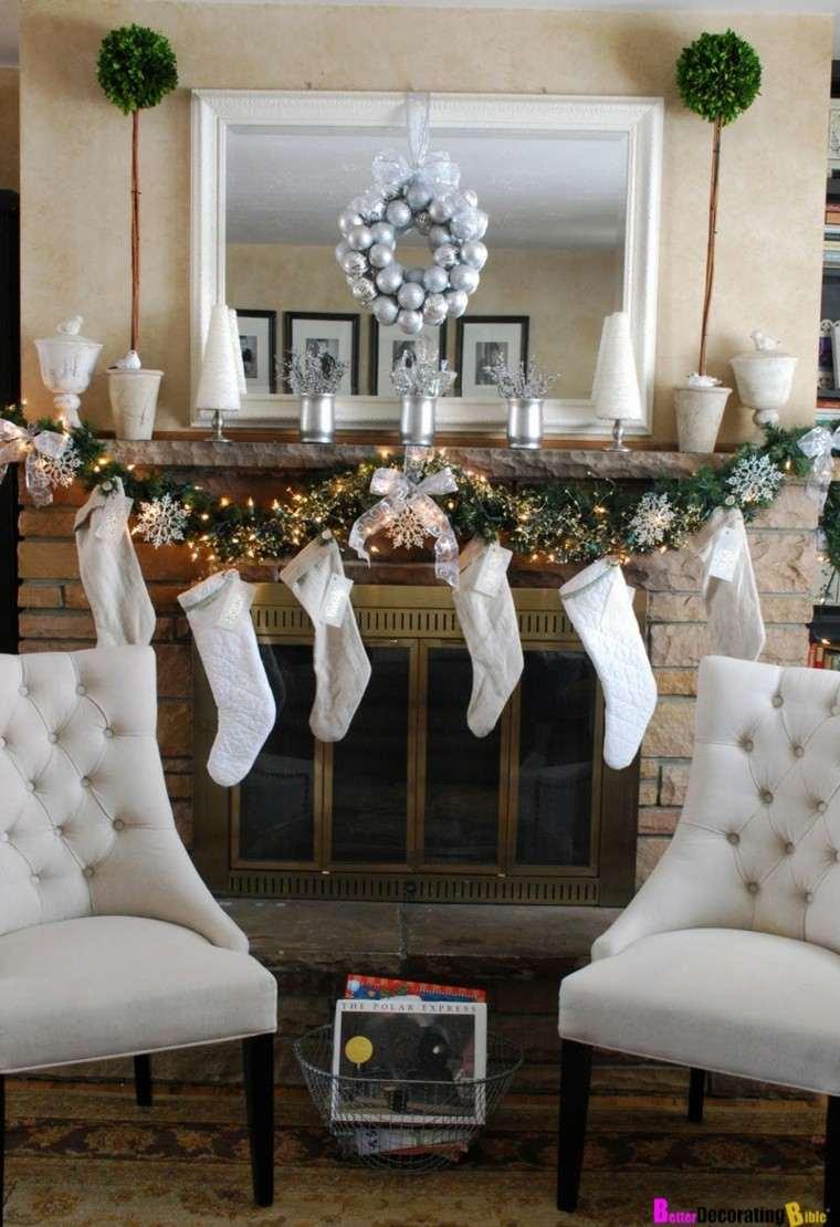 Chimenea navide a cincuenta ideas para su decoraci n - Decoracion navidad moderna ...