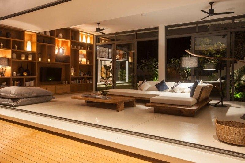 diseño salón moderno estilo asiático