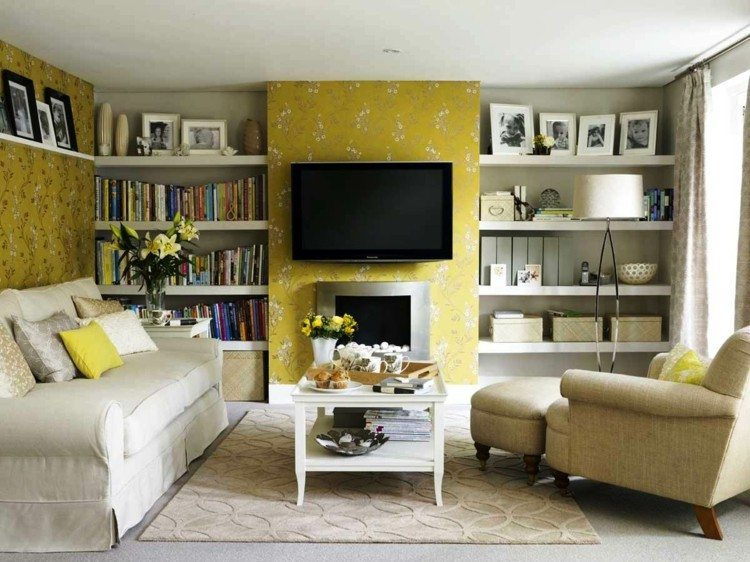 salon color amarillo tele chiomenea