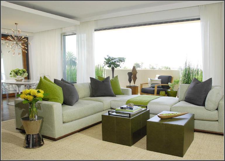 salon diseño moderno deco verde