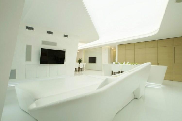 salon estilo futurista luces led