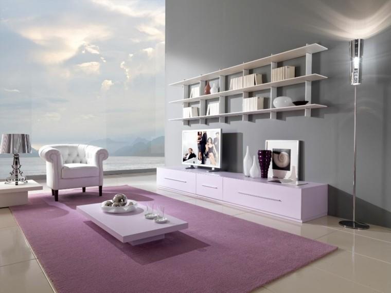 salon lujoso alfombra color rosa
