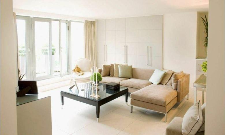 salon moderno color beige