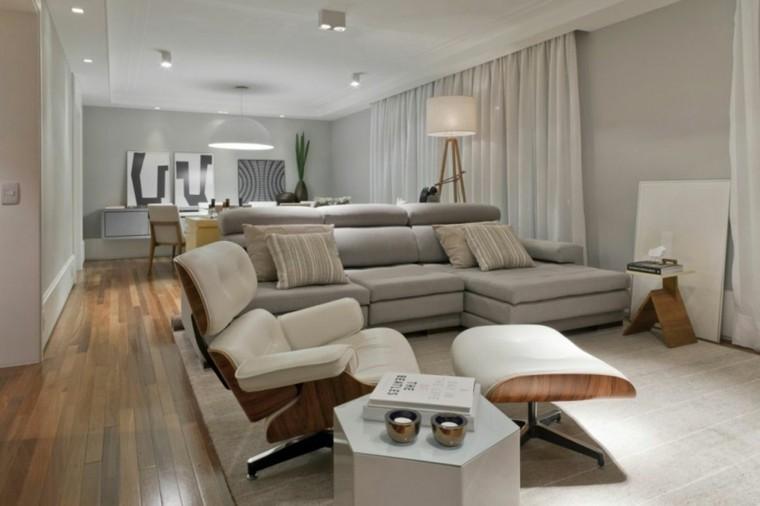 salon moderno deco color gris