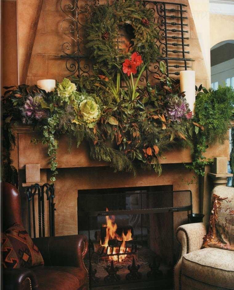 salon navidad decoración rustica