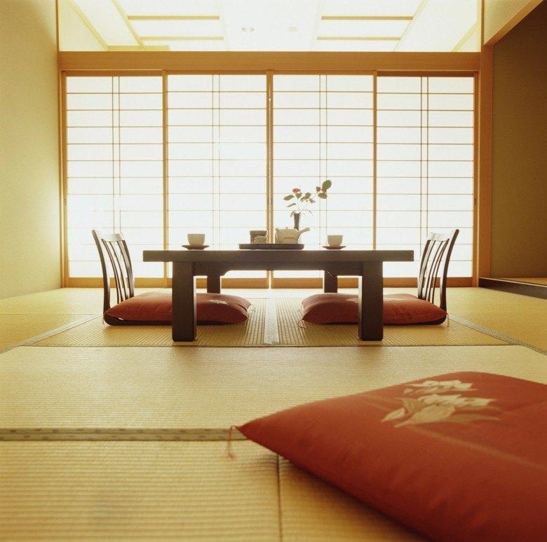 salón pequeño estilo asiatico