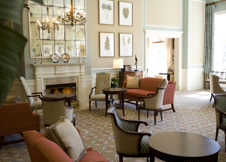 diseño salón lujoso estilo retro