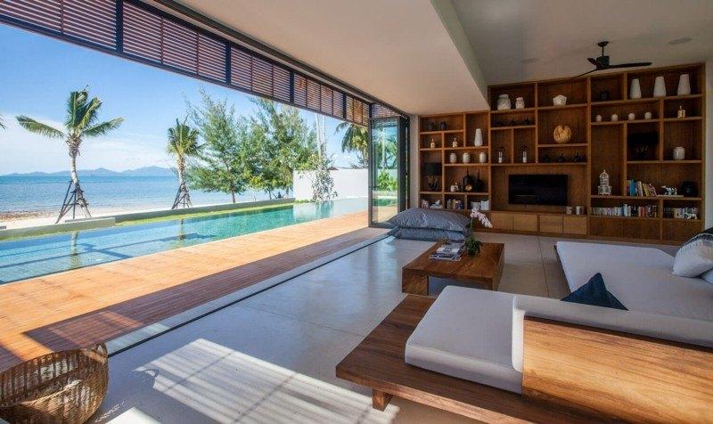 salon terraza vistas mar resort