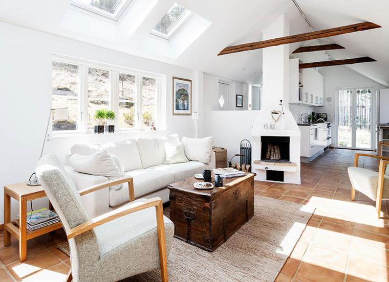 salon moderno color blanco