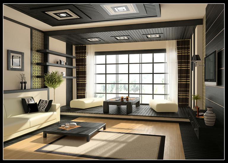 diseño salon estilo asiático