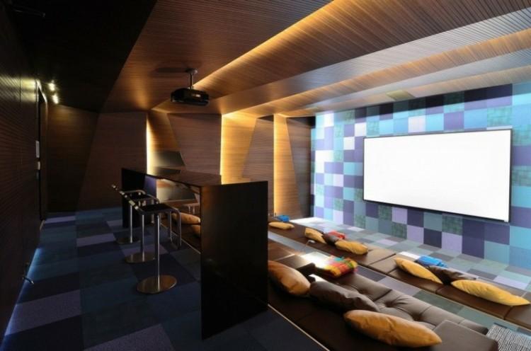 salon diseño moderno paredes madera