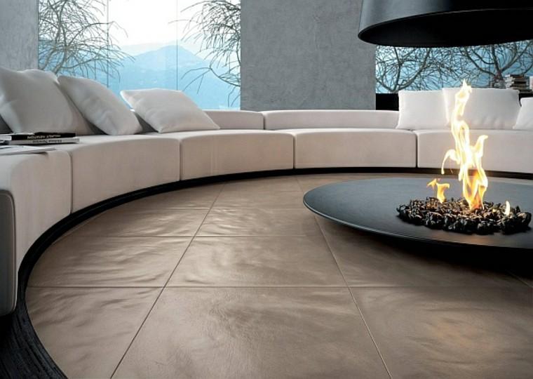 salones calientes chimenea estilo contemporaneo ideas