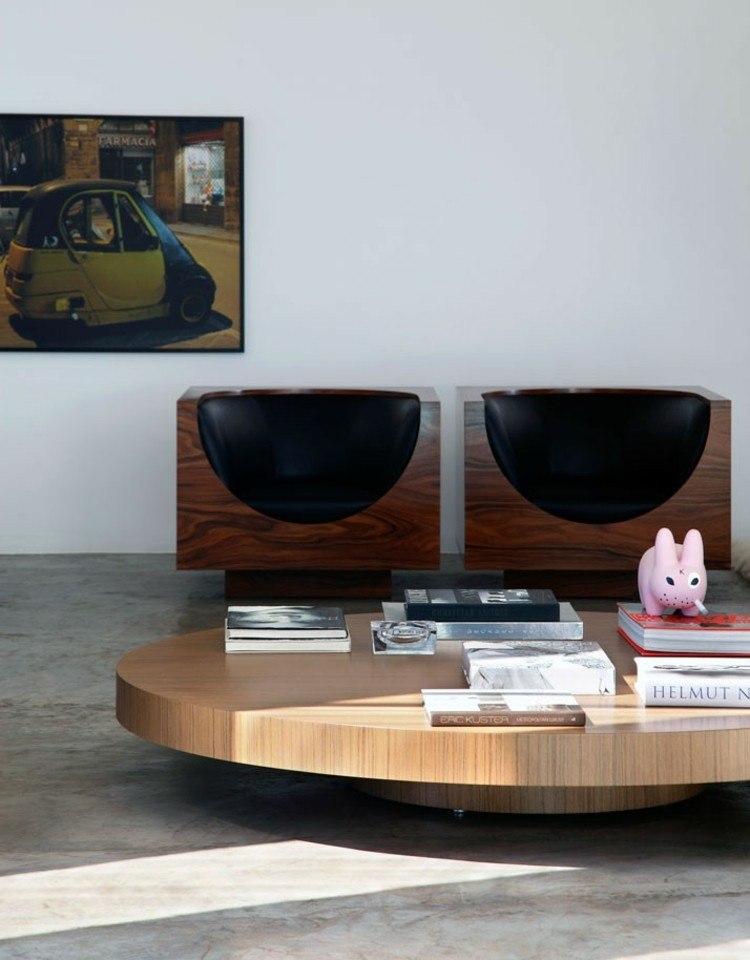 salones diseño maderas marrones fotos rosa