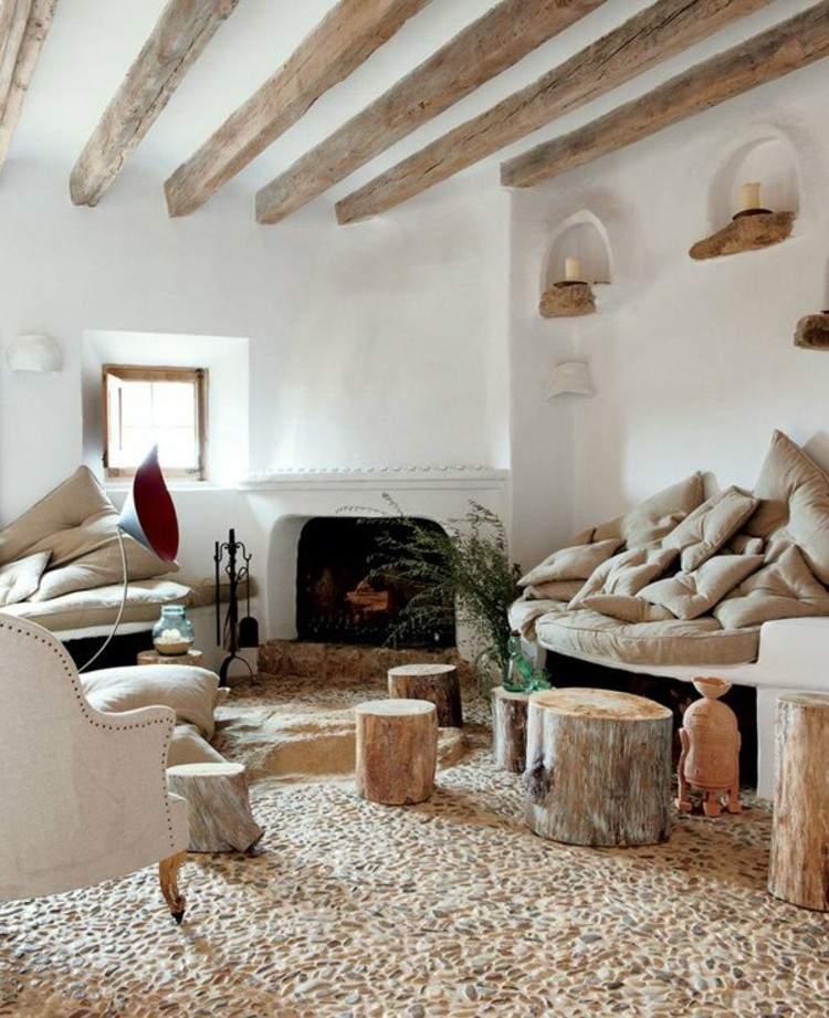 salones diseño maderas natural rustico blanco