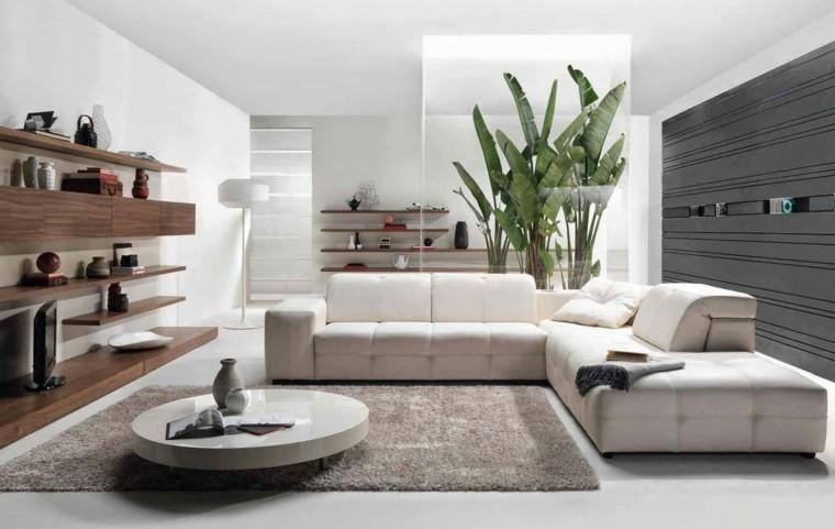 salones modernos tonos grises