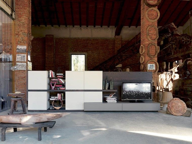 salones muebles modernos estilo industrial ideas