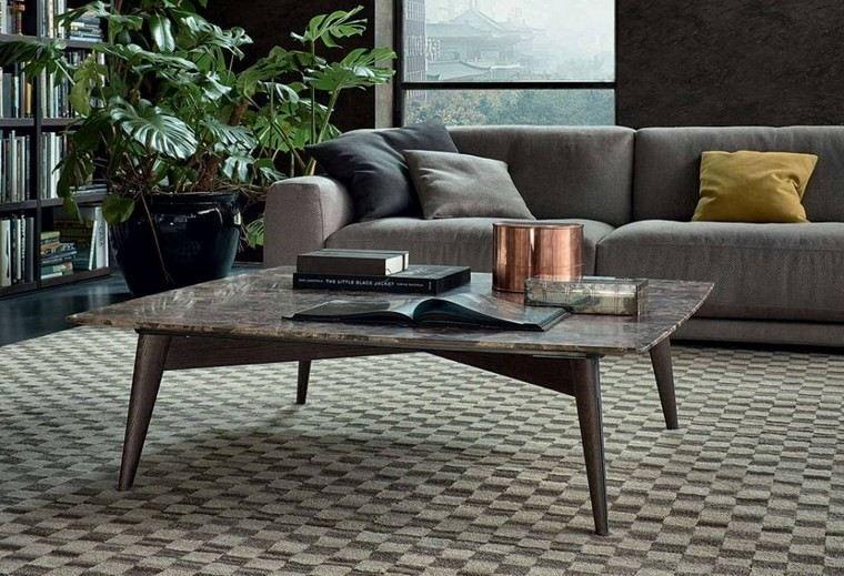 salones muebles modernos mesa marmol ideas