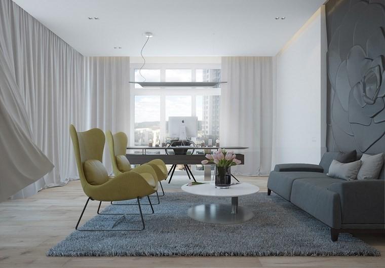 salones muebles modernos mesita blanca ideas