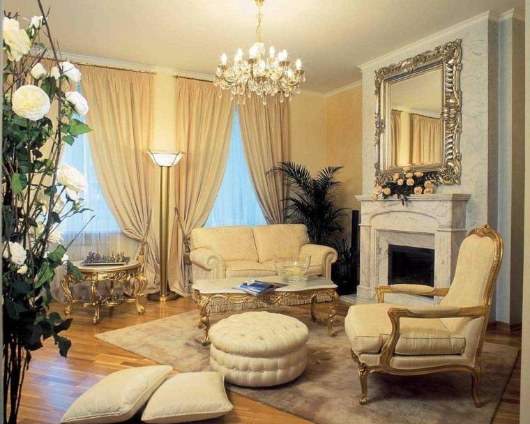 salones señoriales espejos estilo vintage