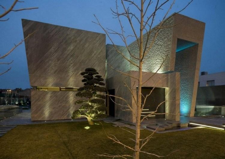 casa moderna color gris oginal diseño