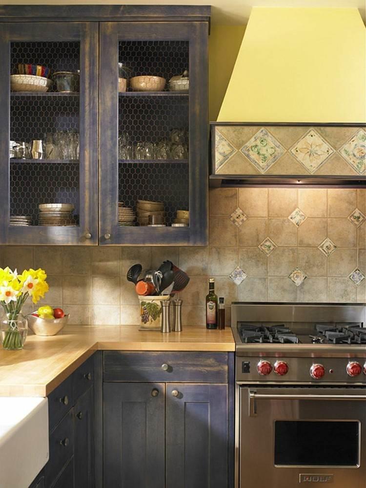 shabby chic cocinas amplia vertical armarios reja