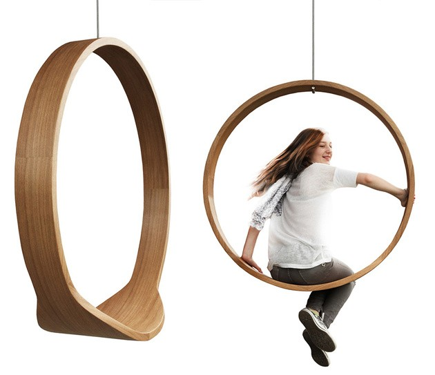 silla modelo swing diseño madera