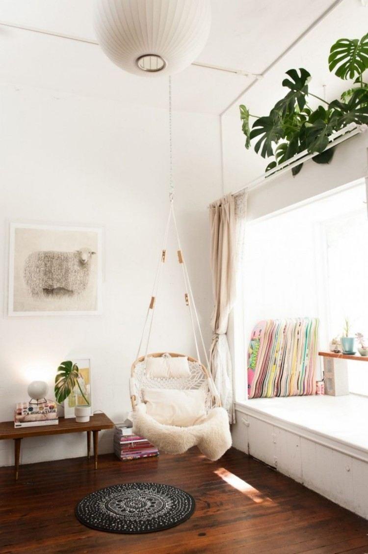sillas colgantes exteriores diseño oveja lamparas